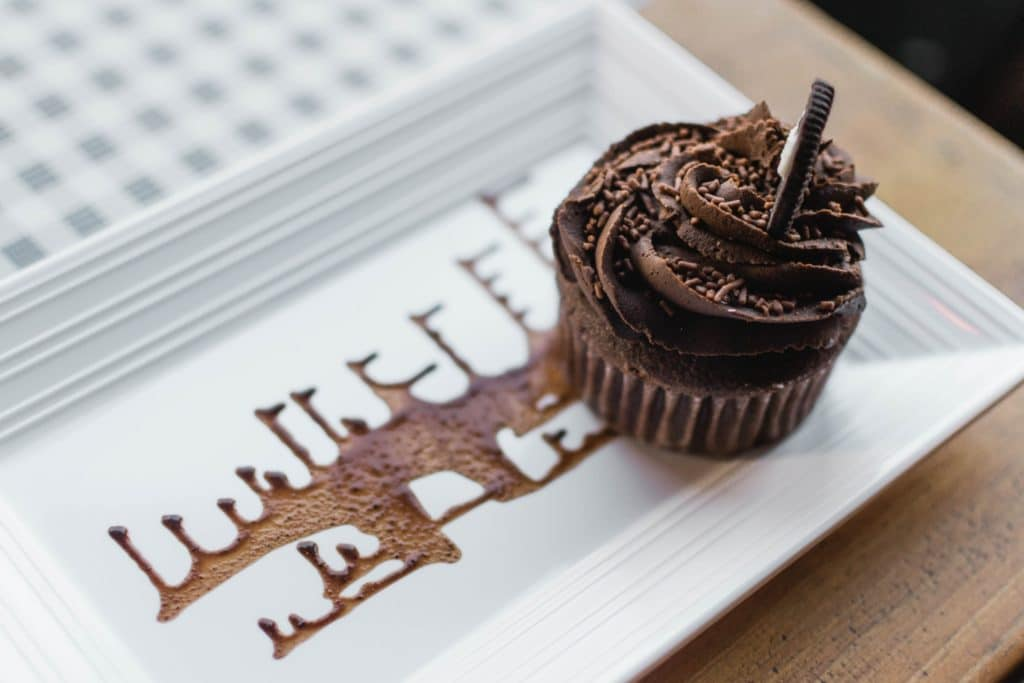 Chocolate cupcake from boxed cake mix