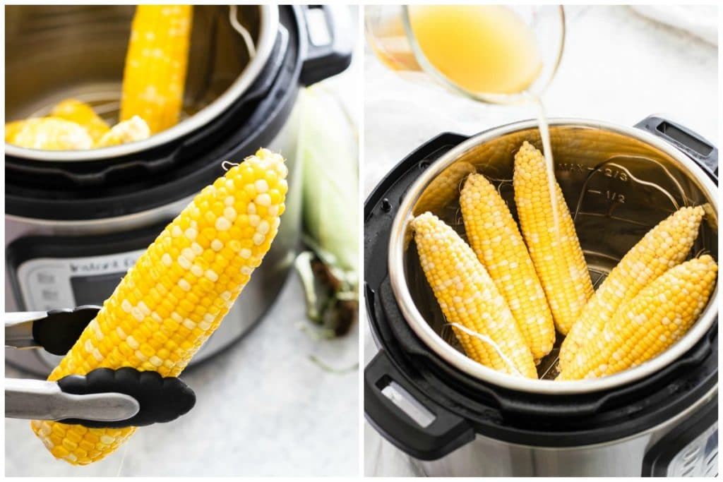 cooking corn on the cob in the instant pot