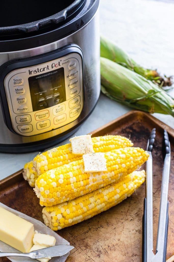 corn on the cob in Instant Pot