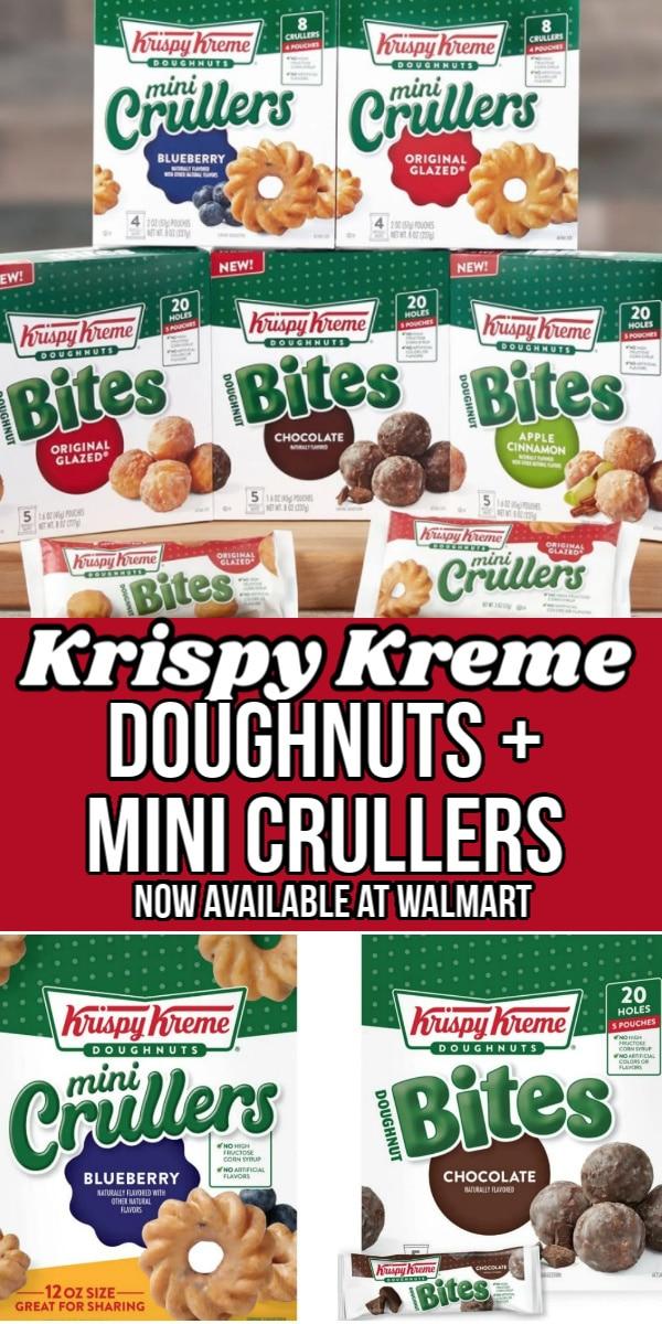krispy kreme doughnuts and mini crullers