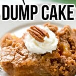 Apple Pie Dump Cake made with 3 - ingredients.