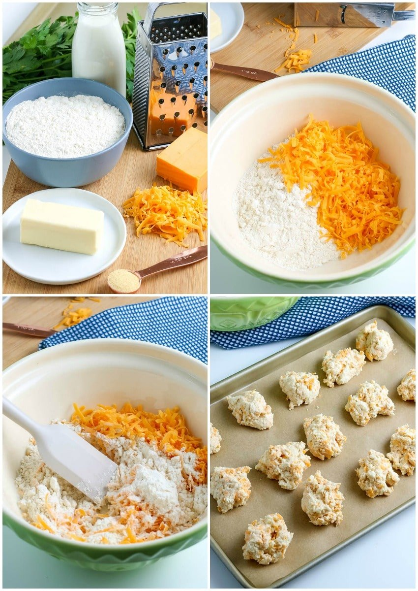 how to make cheddar bay biscuits steps