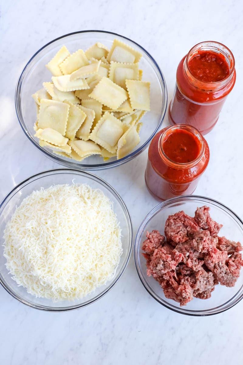 crock pot ravioli lasagna ingredients