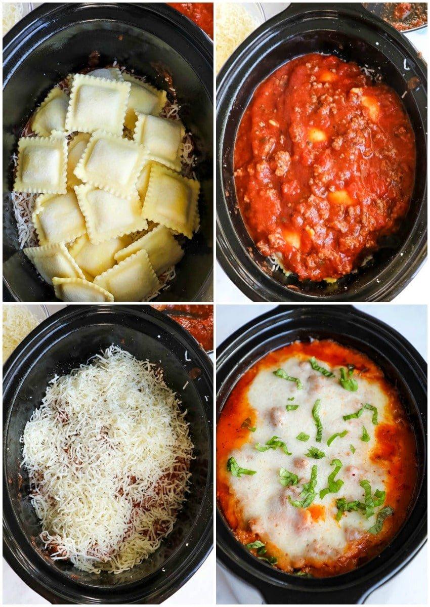 how to make crockpot ravioli