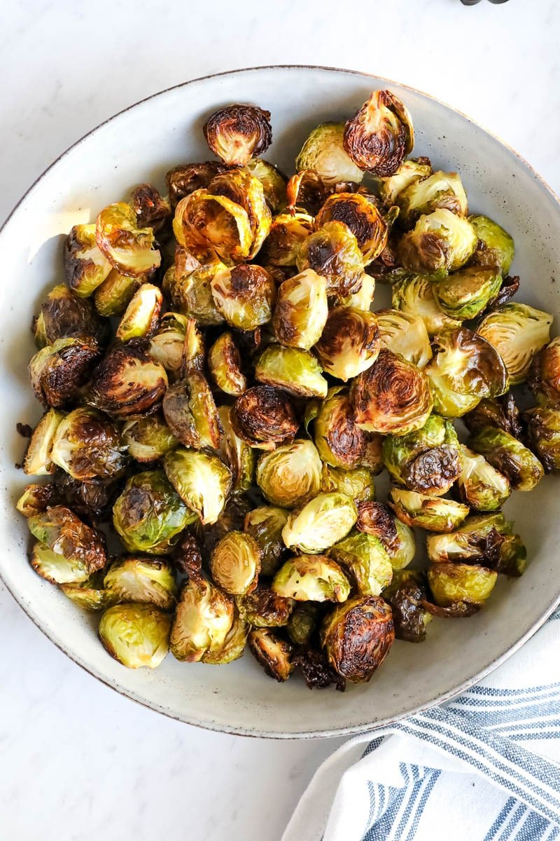 roasted brussel sprouts in a bowl