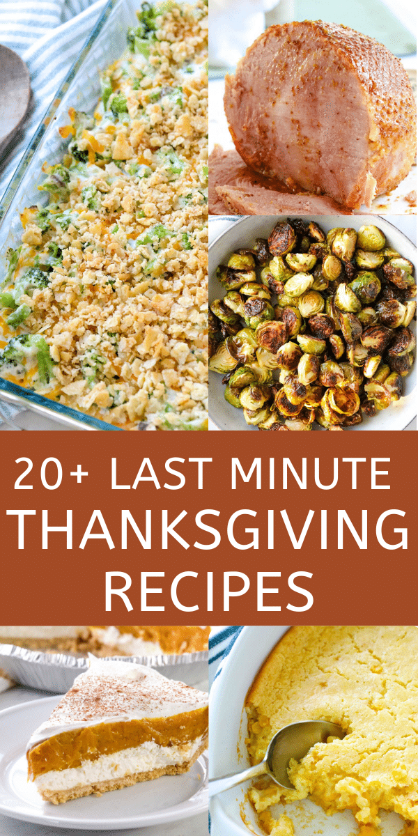 last minute thanksgiving recipes