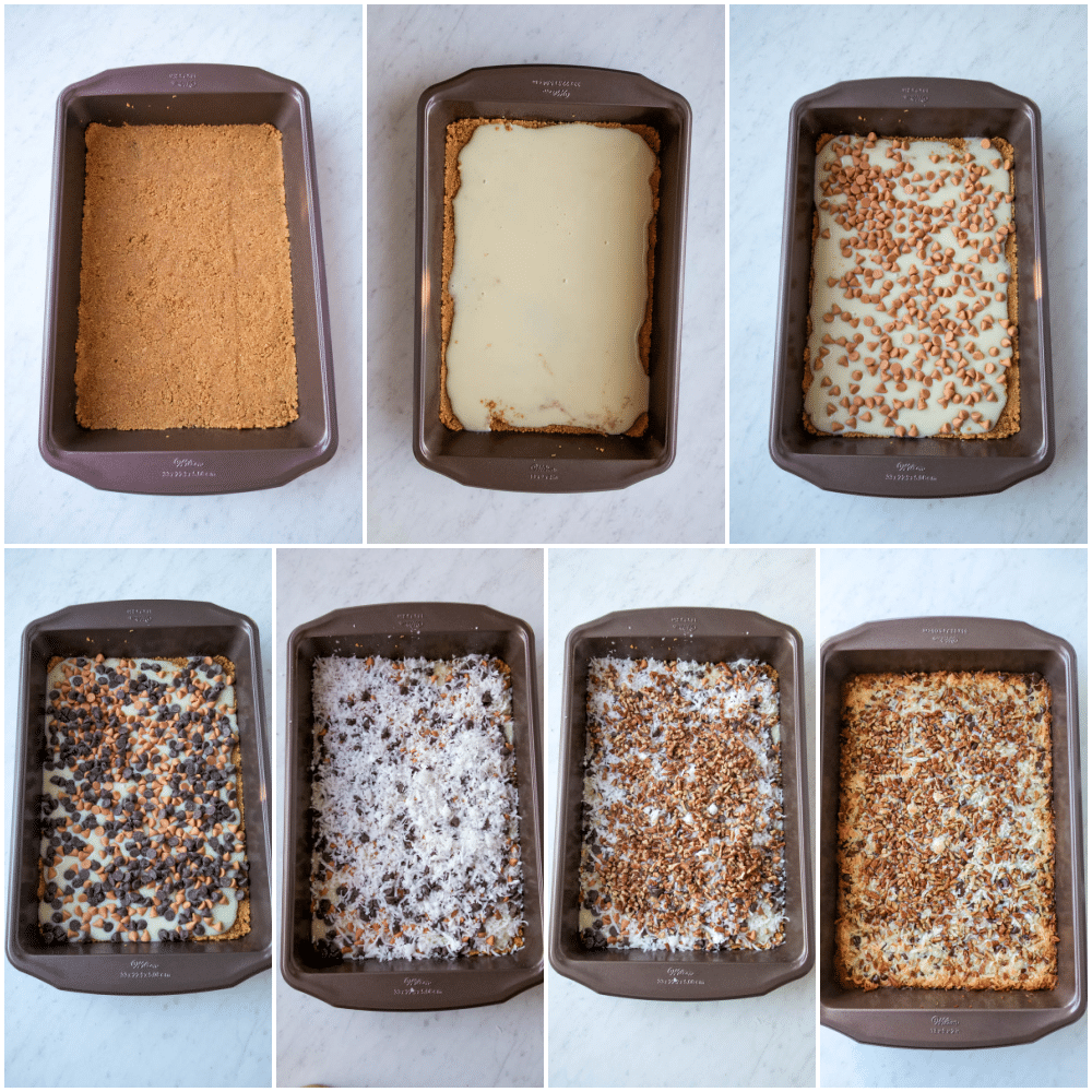 7 layer cookie steps