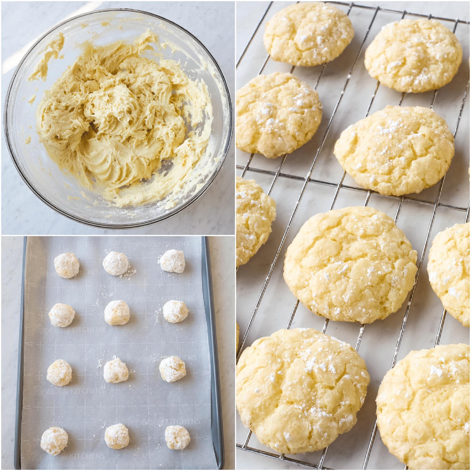 steps to make cake mix cookies