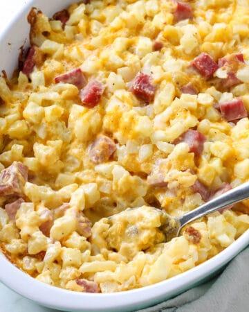Cheesy Ham and Potato Casserole