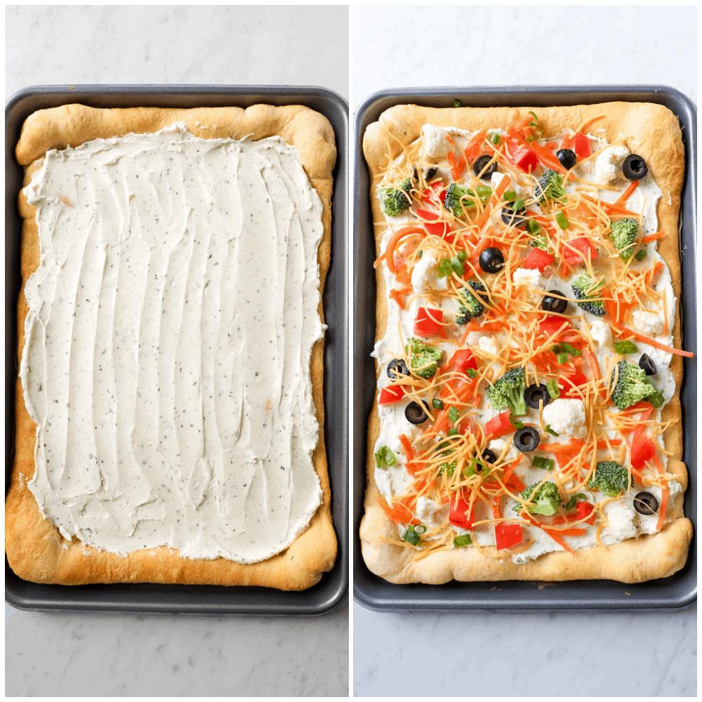steps for veggie pizza