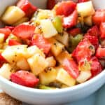 bowl of fresh fruit salsa recipe