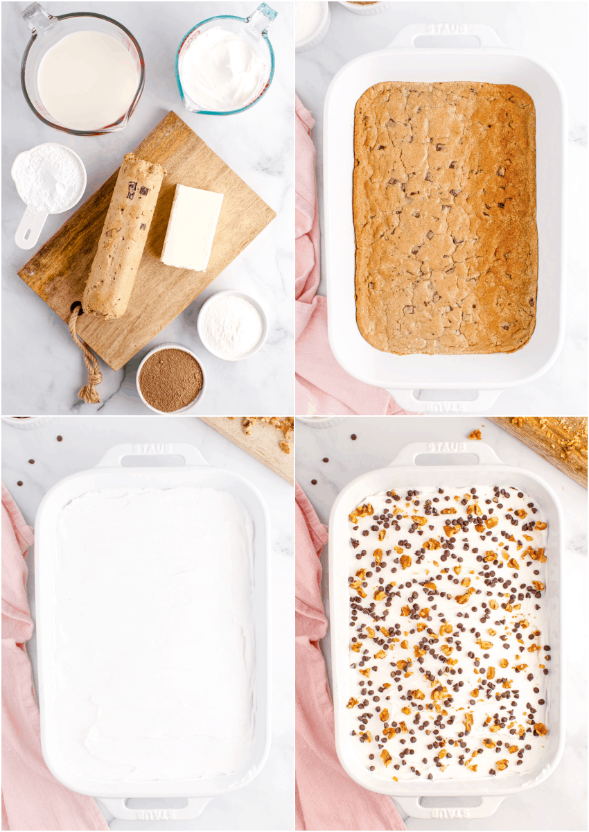 steps for making chocolate chip cookie delight