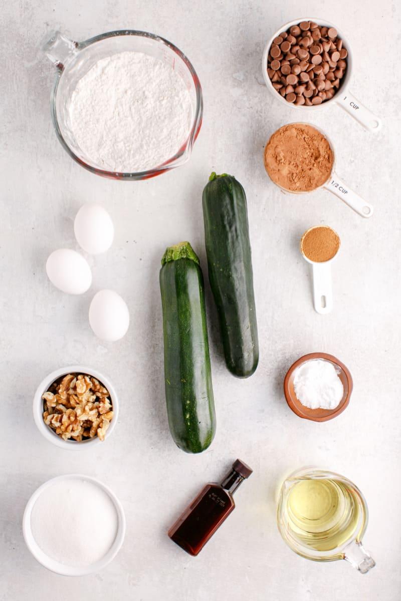 chocolate zucchini bread ingredients
