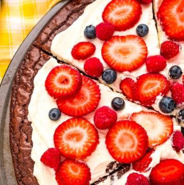 Brownie Fruit Pizza
