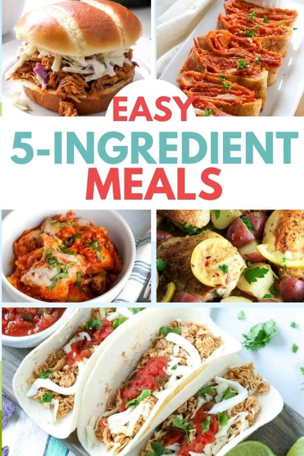 A Whole Week of Easy 5 Ingredient Meals