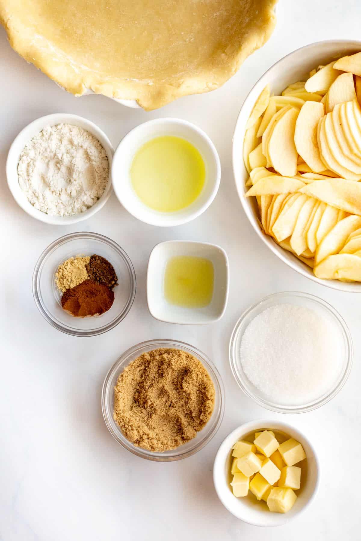 ingredients to make apple pie