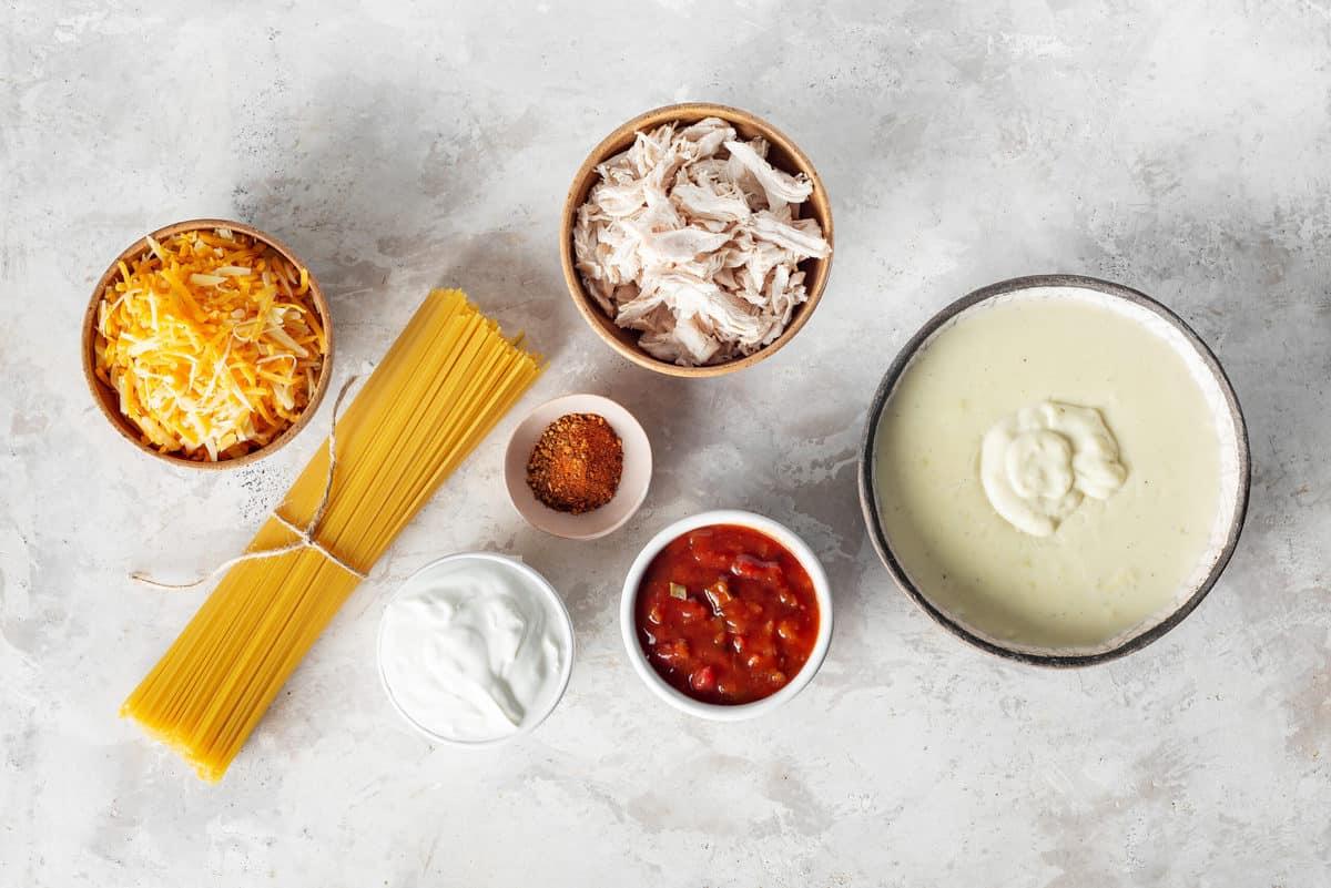 ingredients to make chicken spaghetti