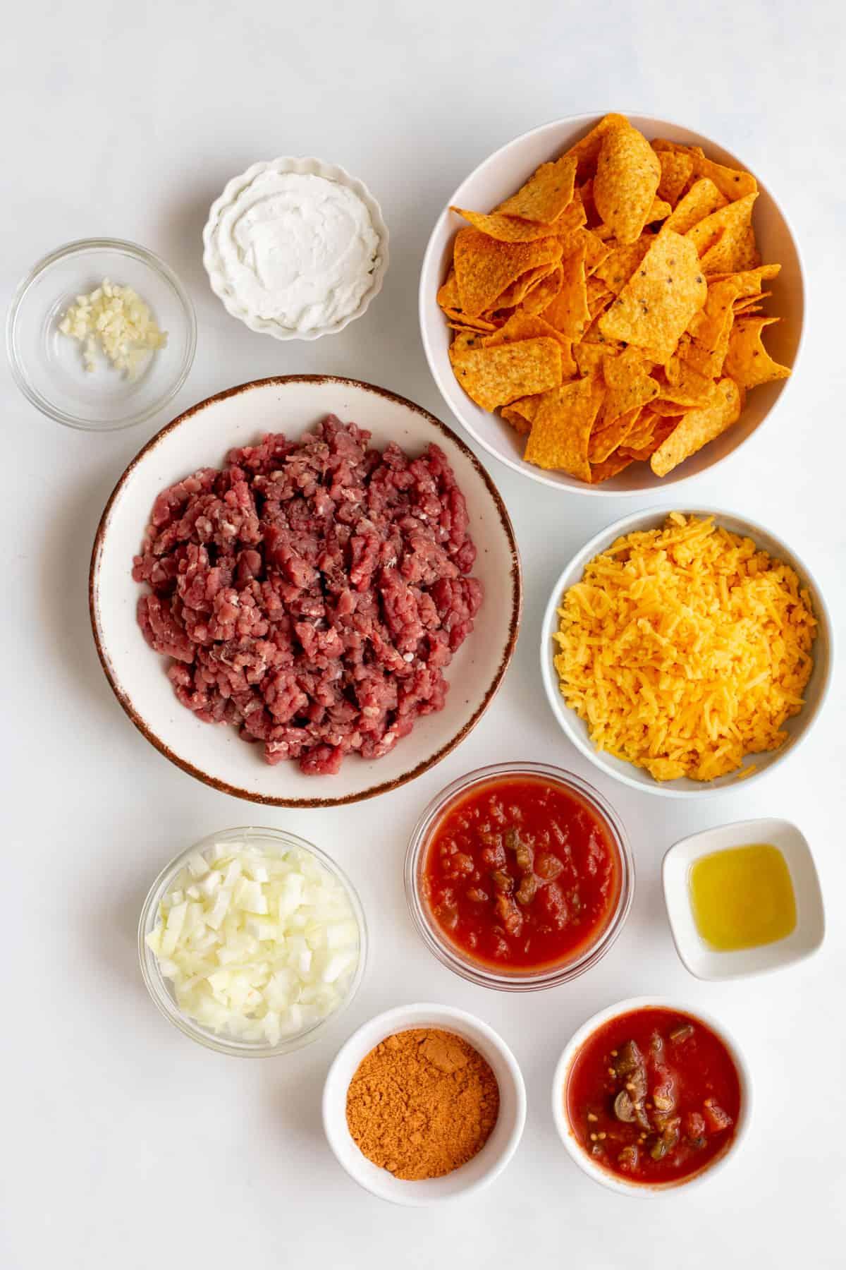 ingredients to make doritos casserole