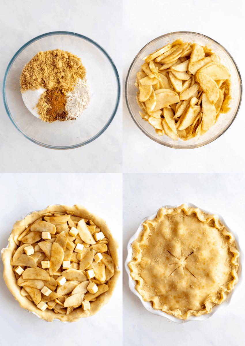 steps to make apple pie