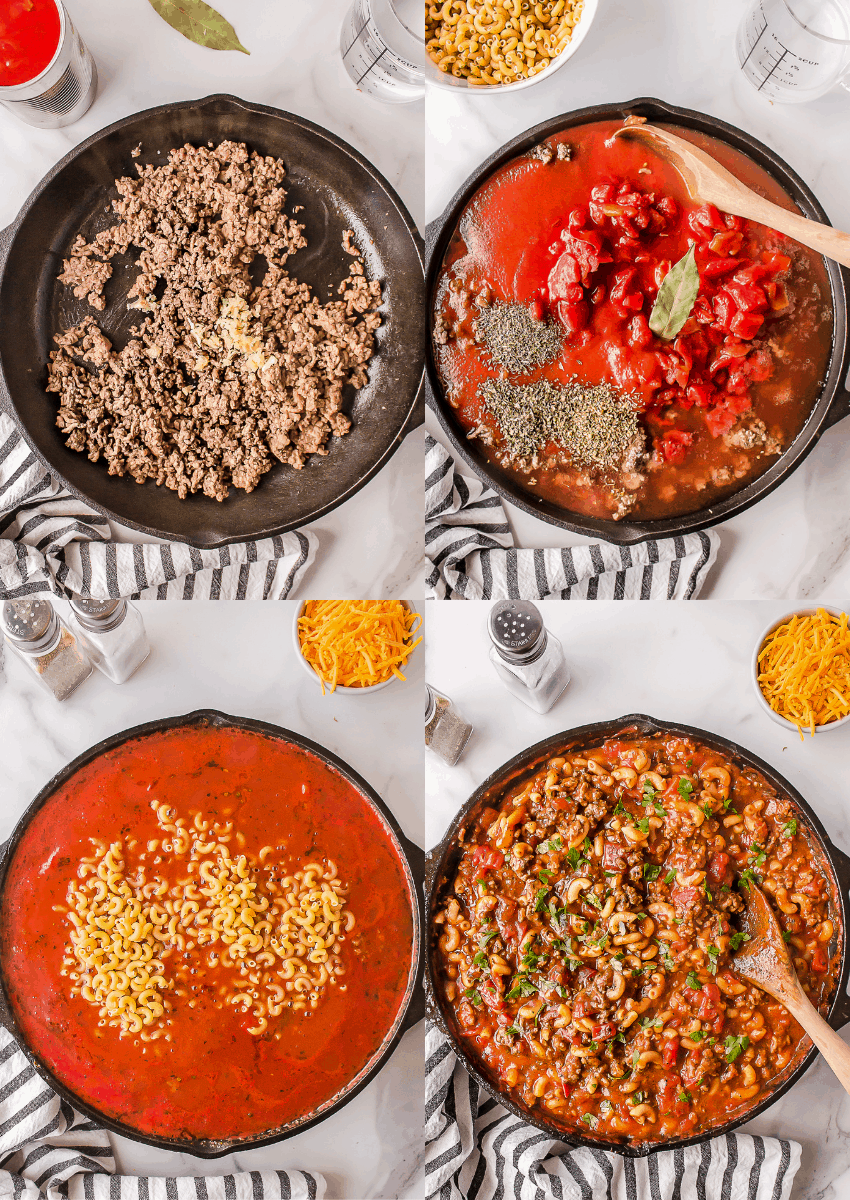 steps to make old fashioned goulash
