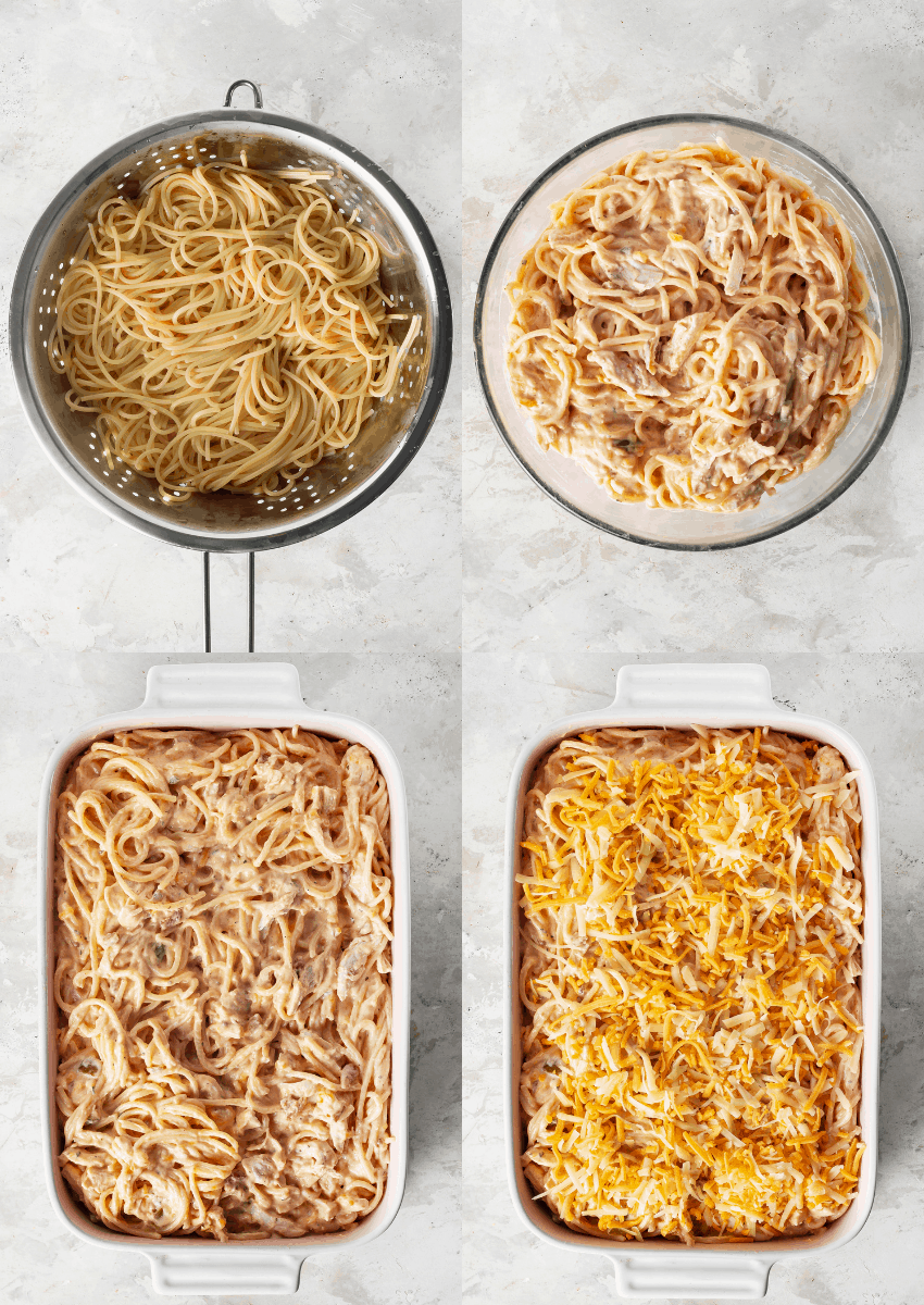 steps to make chicken spaghetti