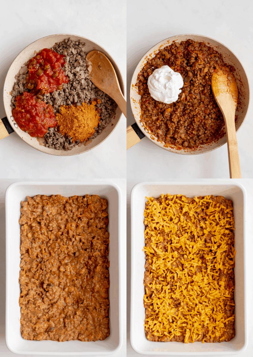 steps to make doritos casserole