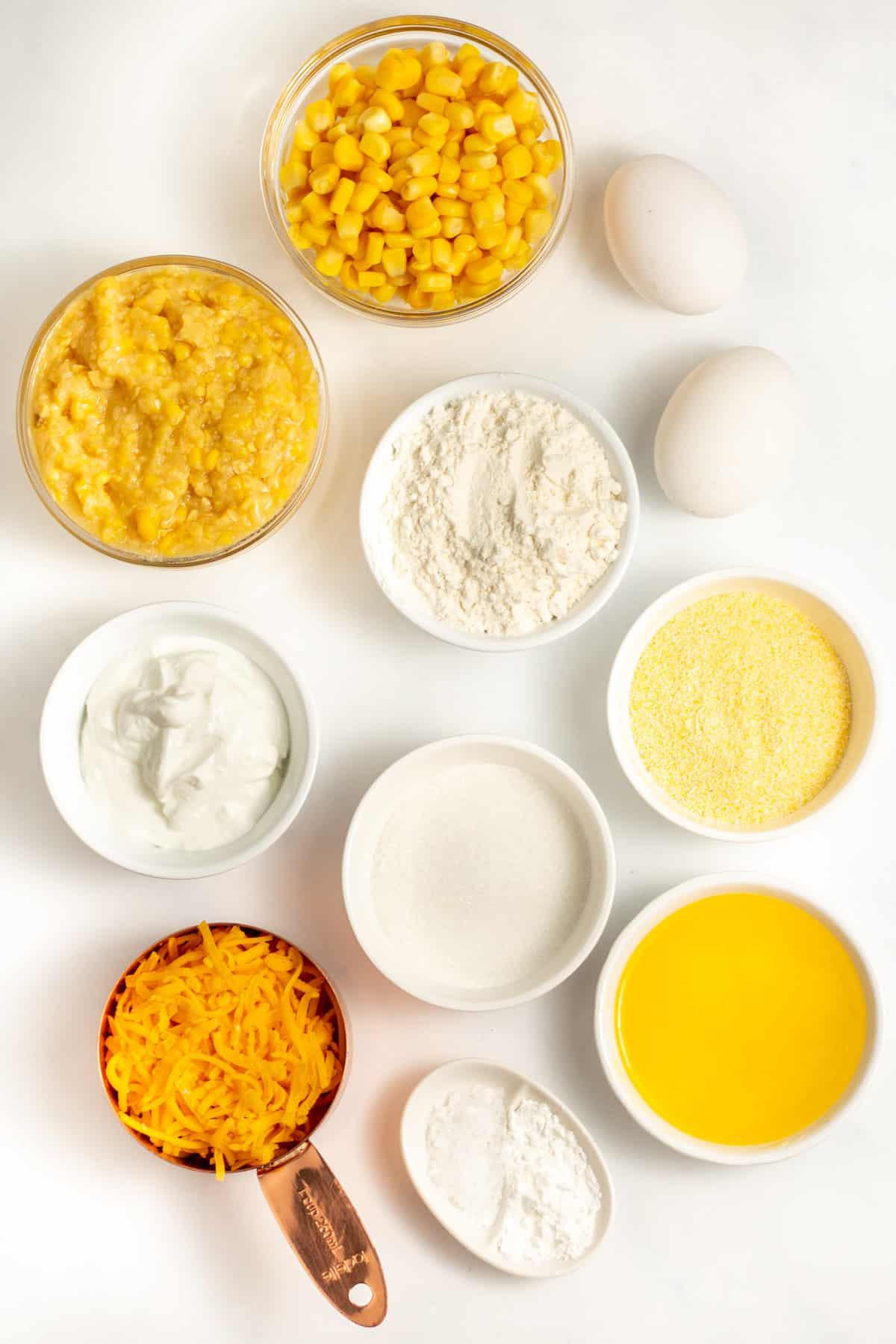 ingredients to make cornbread casserole